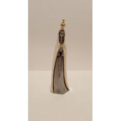 N. Sra. de Fátima Estilizada em Porcelana Prata com Manto Pérola - 13 cm