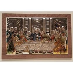 Placa com Última Ceia de Cristo em Bilaminado Colorido