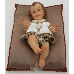 Menino Jesus Vestido Deitado - 25 cm